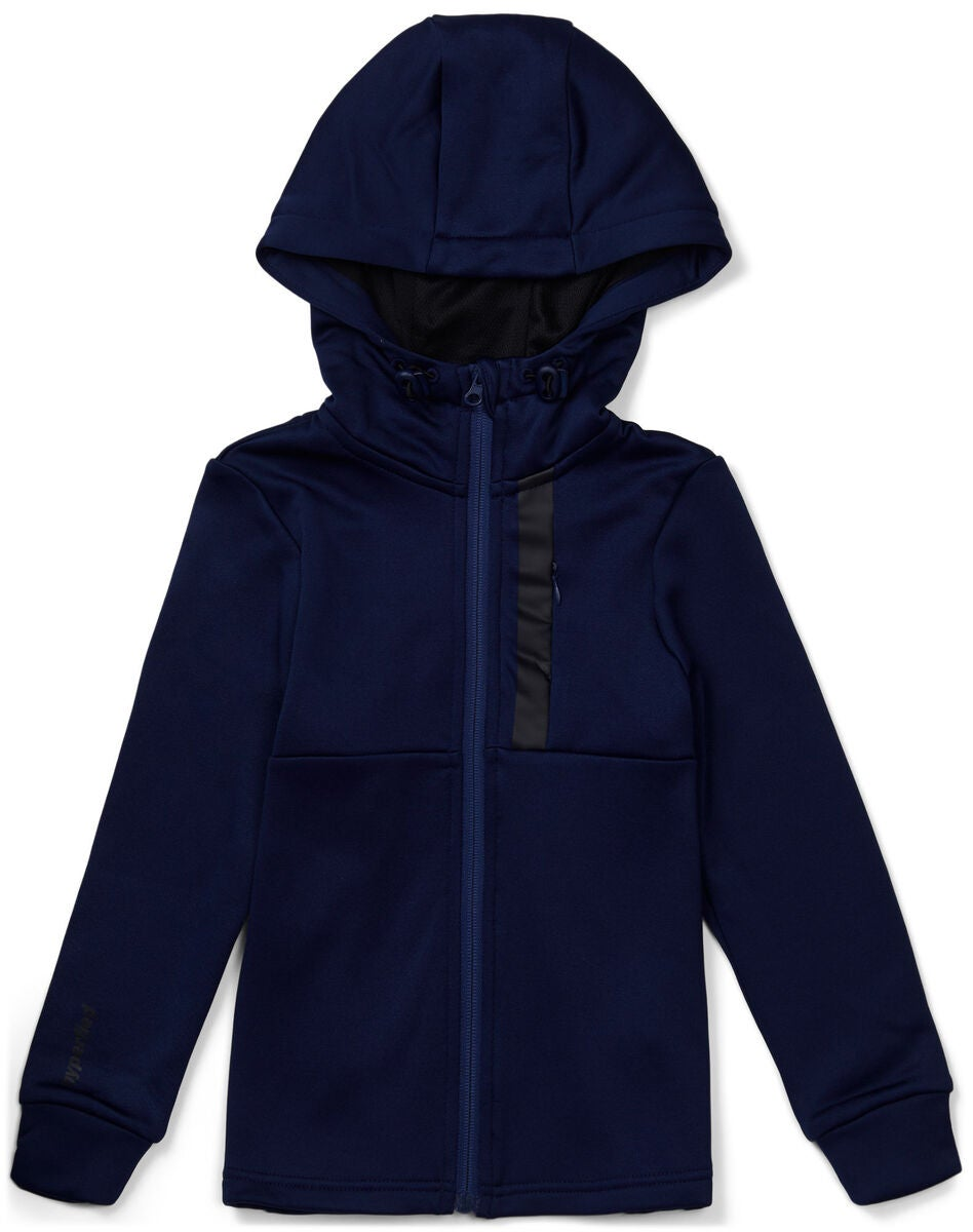 Hyperfied Scuba Zipped Hoodie, Medieval Blue