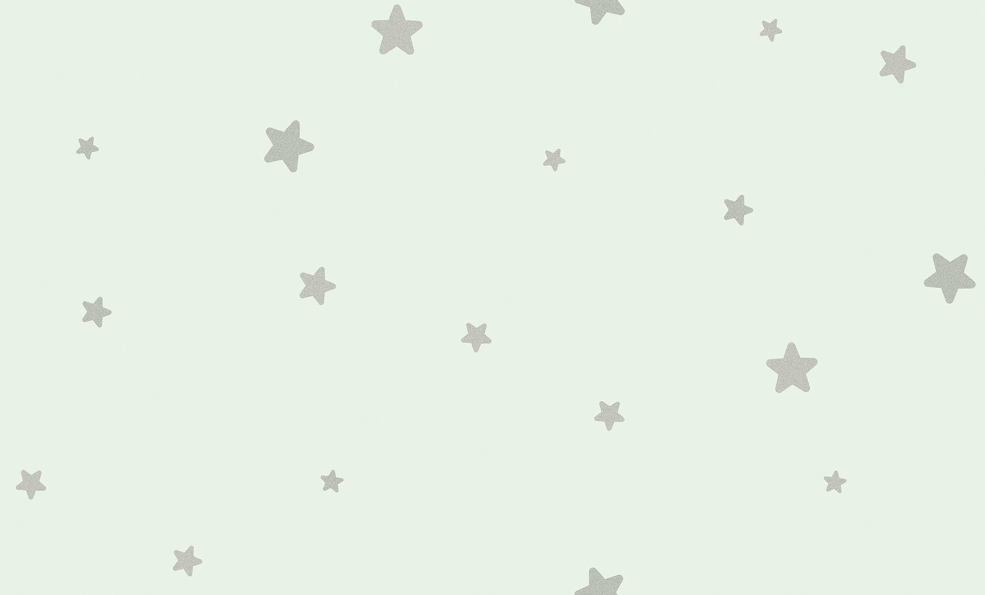 Fiona Walldesign Lilla Stjärna Tapet, Grön