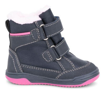 Little Champs Känga, Navy/Pink