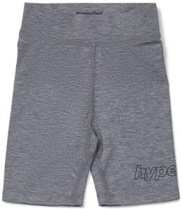 Hyperfied Jersey Logo Biker Shorts, Grey Melange