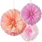 Talking Tables Pom Poms Flower Blush Mix 3-p