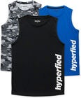 Hyperfied Bounce Tank Top 3-pack, Black/Camo Black/Blue