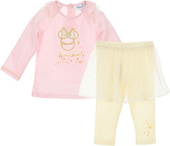 Disney Mimmi Pigg Set Tröja & Leggings Kjol, Light Pink