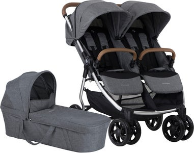Crescent Duo Lightway Syskonvagn, Grey Melange
