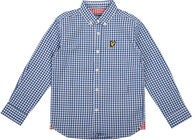 Lyle & Scott Junior Gingham Check Skjorta, True Blue