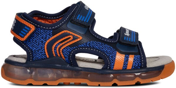 Geox Android Sandal, Navy/Orange