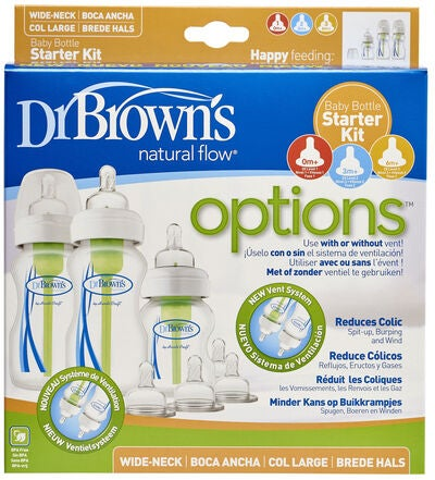 Dr. Browns Options Wideneck Nappflaska Startkit