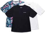 Hyperfied Wave T-Shirt 3-pack, Black/White/Tropical Flower