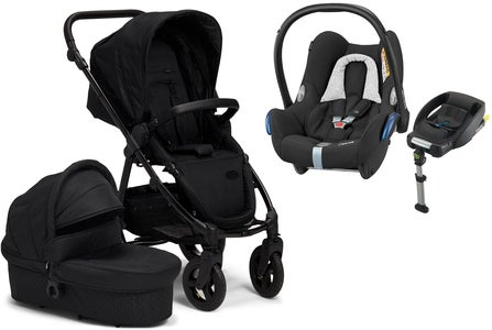 Petite Chérie Heritage 2020 Duovagn inkl. Travelsystem Maxi Cosi, Black