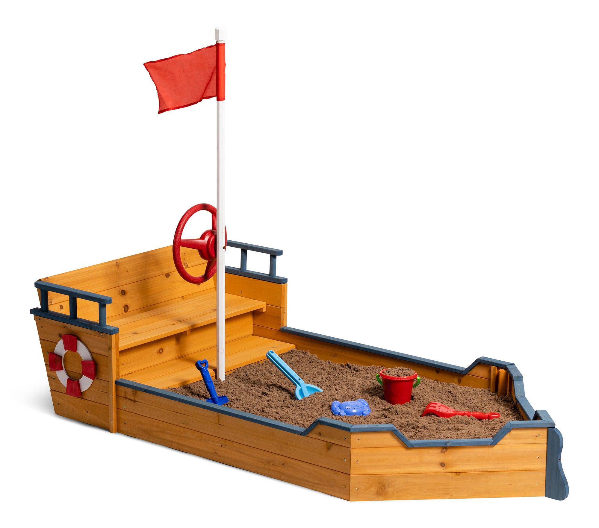 Woodlii Sandlåda Båt