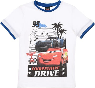 Disney Cars T-Shirt & Shorts, Vit