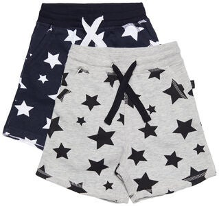 Luca & Lola Fabriano Shorts 2-pack, Night Sky/Grey Melange