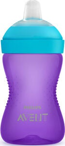 Philips Avent Mjuk pipmugg 300ml 9m+, lila/turkos