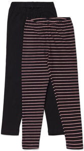 Luca & Lola Agata Leggings 2-pack, Black/Stripes