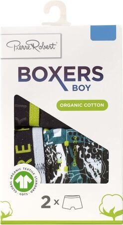 Pierre Robert Young Boxer 2-pack, Petrol Black