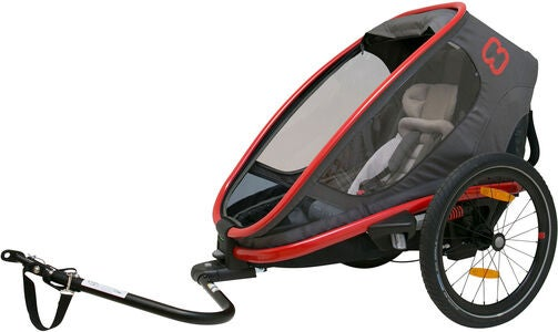 Hamax Outback One Reclining Cykelvagn 2019, Red/Charcoal