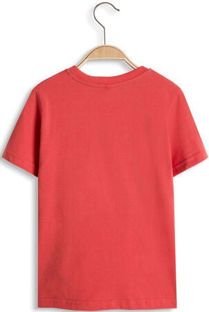 ESPRIT T-Shirt Yeaah!, Coral Red