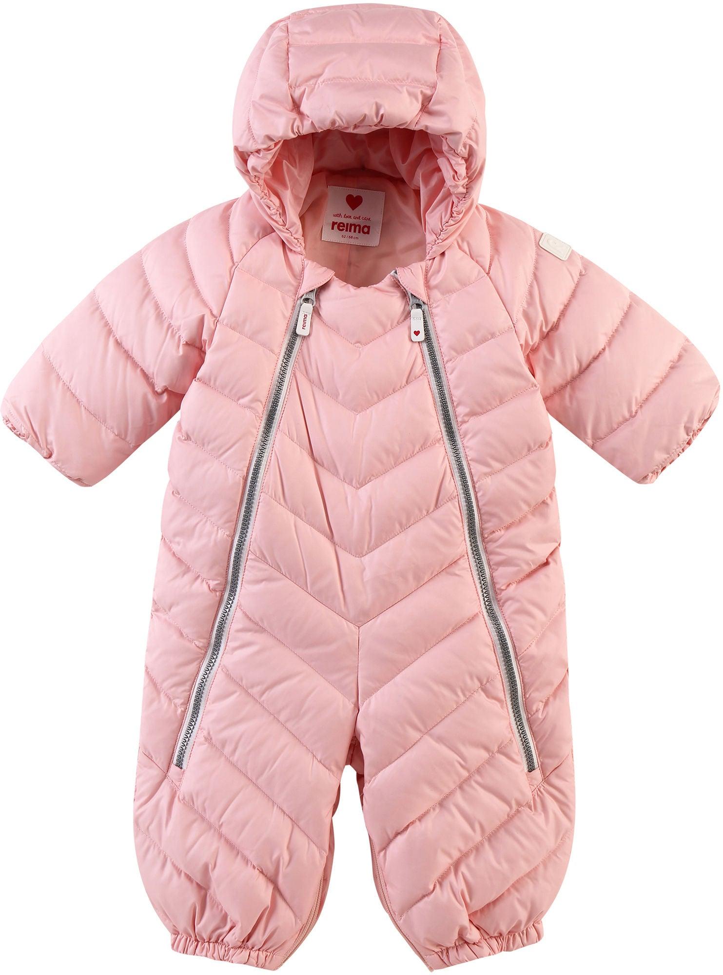 Reimatec Virkaten Babyoverall/Sovpåse, Powder Pink 50-56