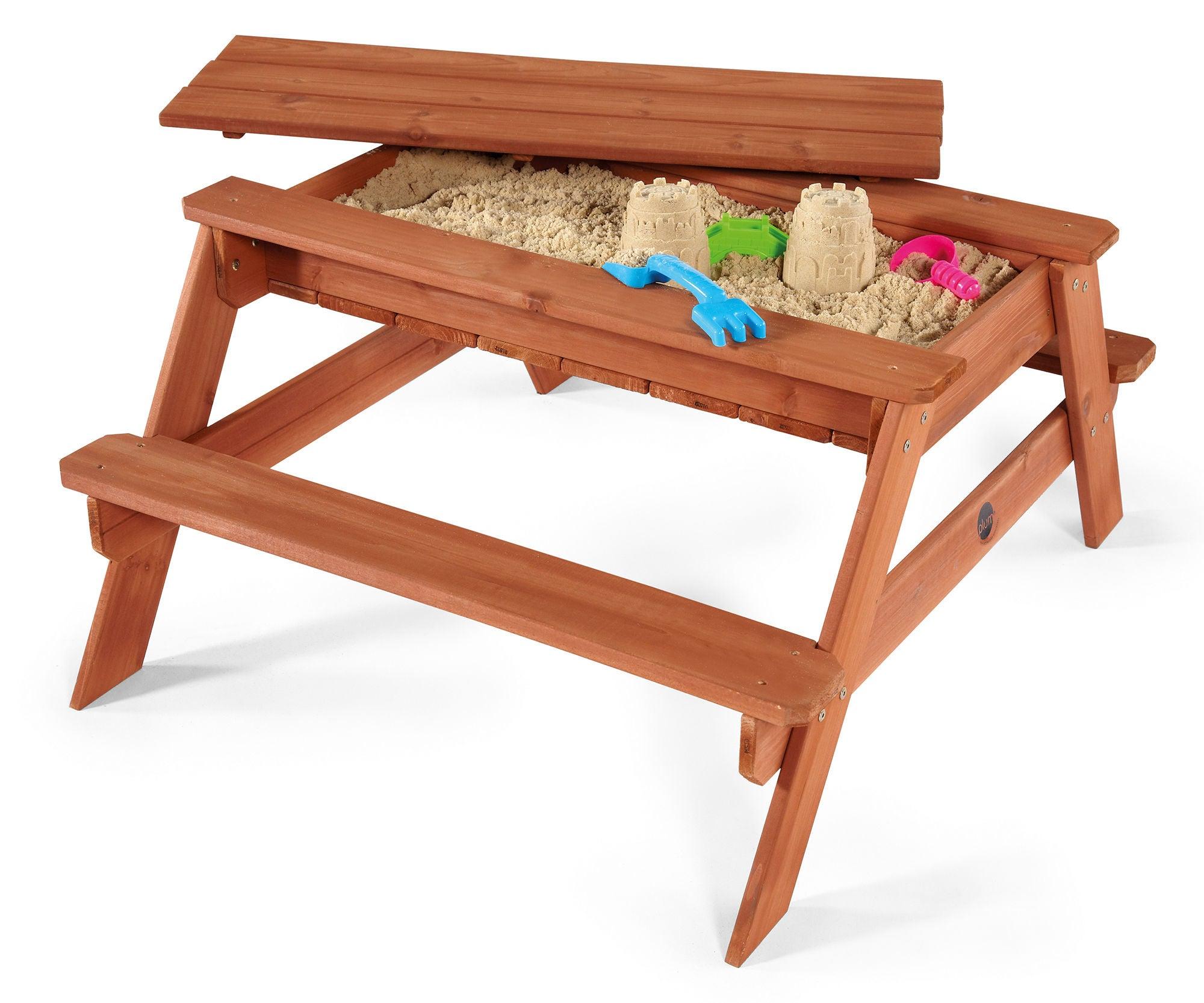 Plum Sandlåda Och Picknickbord