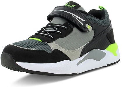 Leaf Matvik Sneaker, Black/Lime