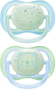 Philips Avent Ultra Air Night Time Napp 0-6m, Blå