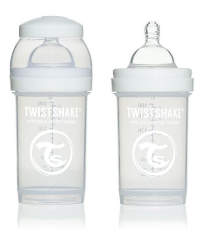 Twistshake Nappflaska Anti Colic 180ml Vit