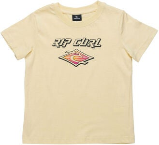 Rip Curl Neon Slant And Donut T-Shirt, Pale Yellow