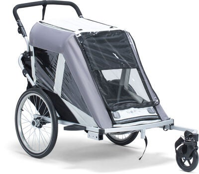 North 13.5 Roadster+ Cykelvagn, Grey Inkl. Skidset