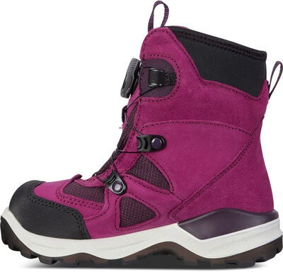 ECCO Snow Mountain Känga, Black/Red Plum
