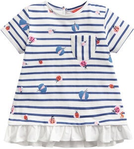 Tom Joule T-Shirt, Cream Stripe Glitter Bugs