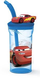 Disney Cars Glas med Lock, Blå