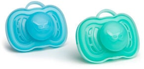 Herobility Pacifier Napp 0+ mån 2-pack, Blue/Turquoise