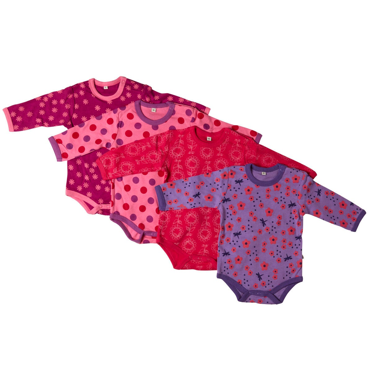 Pippi Body 4-Pack Pink