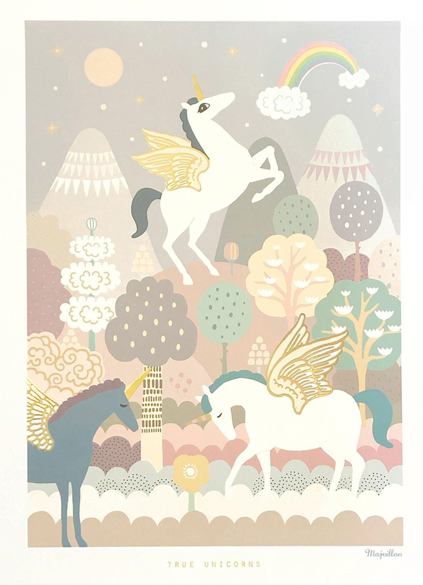 K 246 P Majvillan Poster 50x70 Unicorn Jollyroom