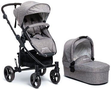 Beemoo Flexi Travel 3 Duovagn, Grey Melange