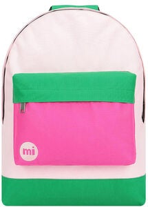 Mi-Pac Classic Colour Block Ryggsäck, Blush/Leaf Green