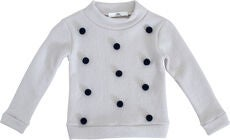Ebbe Valerie Dot Tröja, White-Navy Dot