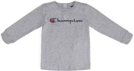 Champion Kids Långärmad Crewneck T-Shirt, Gray Melange Light
