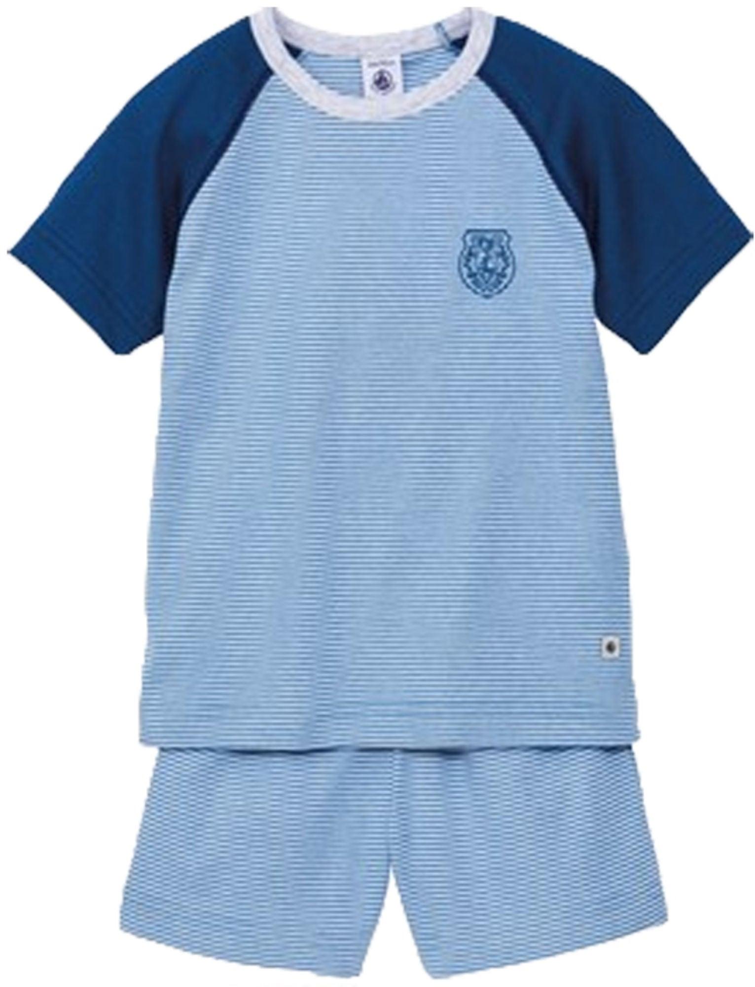 Köp Petit Bateau Pyjamas Kort Blå  7dae1d04b97c9