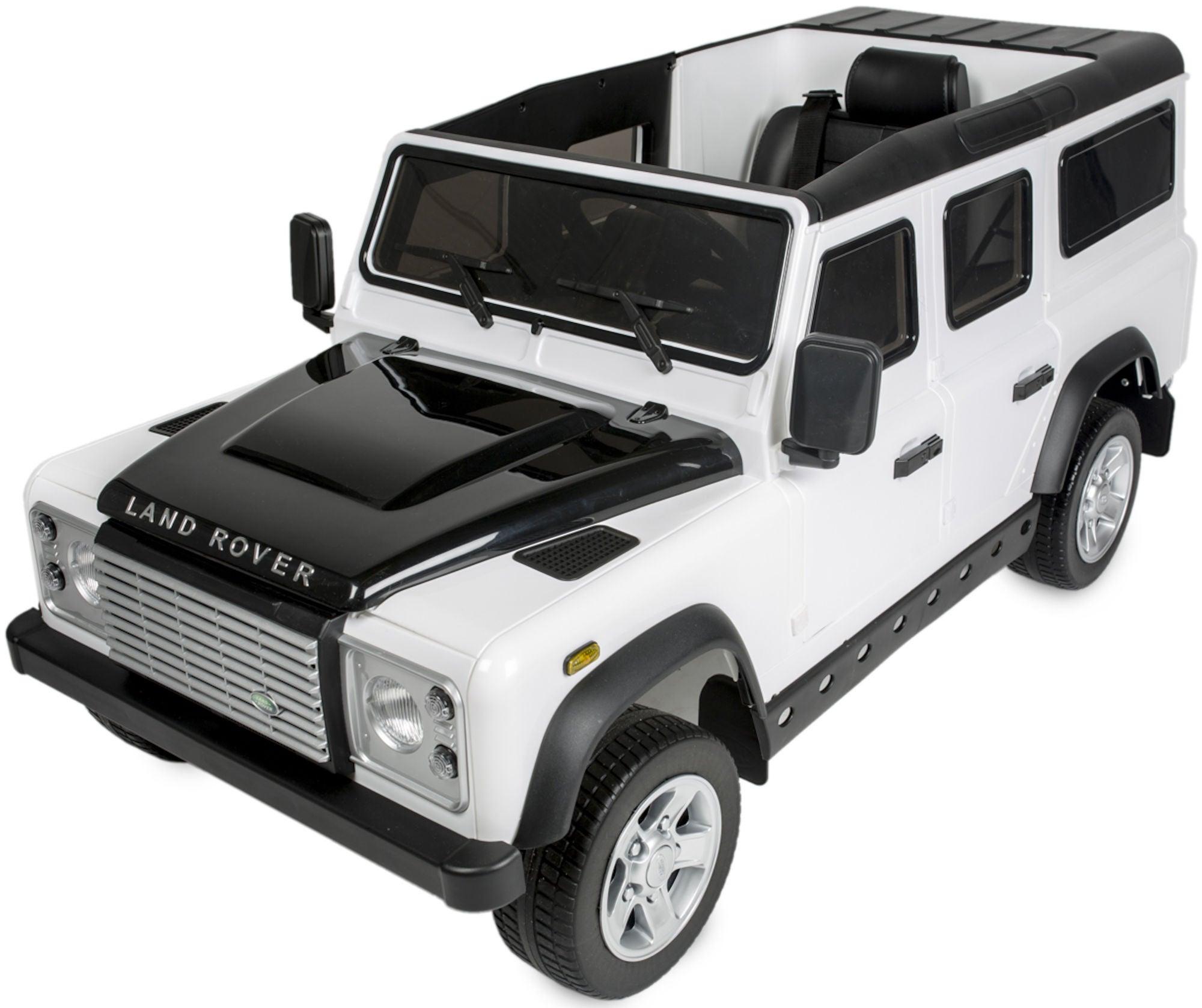 Land Rover Elbil Defender Vit