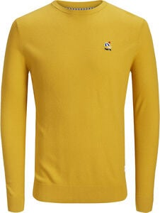 Jack & Jones Steam Crewneck Tröja, Yolk Yellow