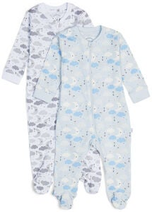 Luca & Lola Napoleone Pyjamas 2-pack, Blue Clouds