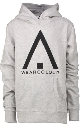 Wearcolour Patch Hoodie, Grey Melange